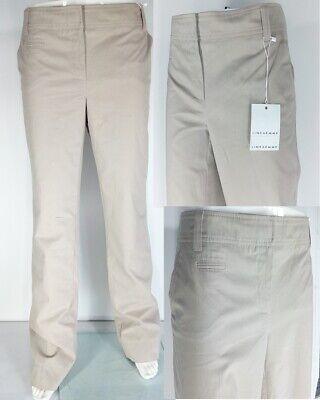 Pantalone Donna Taglia 50 L 34 Beige Lineaemme Cotone Gamba Dritta L'Ultima Moda