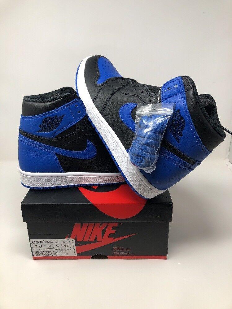 2018 Nike Air Jordan Azul 1 retro High og Azul Jordan Royal 555088-007 reduccion de precio especial por tiempo limitado 980785