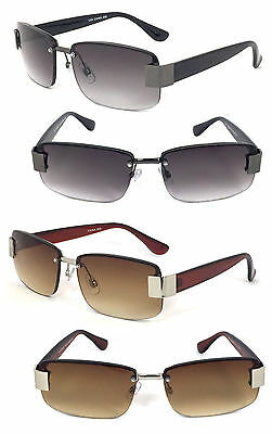 Semi Rimless Mens Sun Reader Reading Sunglasses 2 Color 9 Strength Avail RE57