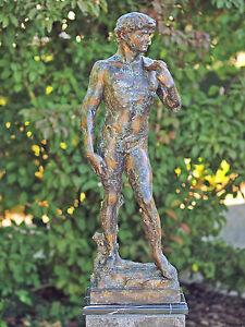 bronzestatue david m nnerakt dekorativ f r haus und garten ebay. Black Bedroom Furniture Sets. Home Design Ideas
