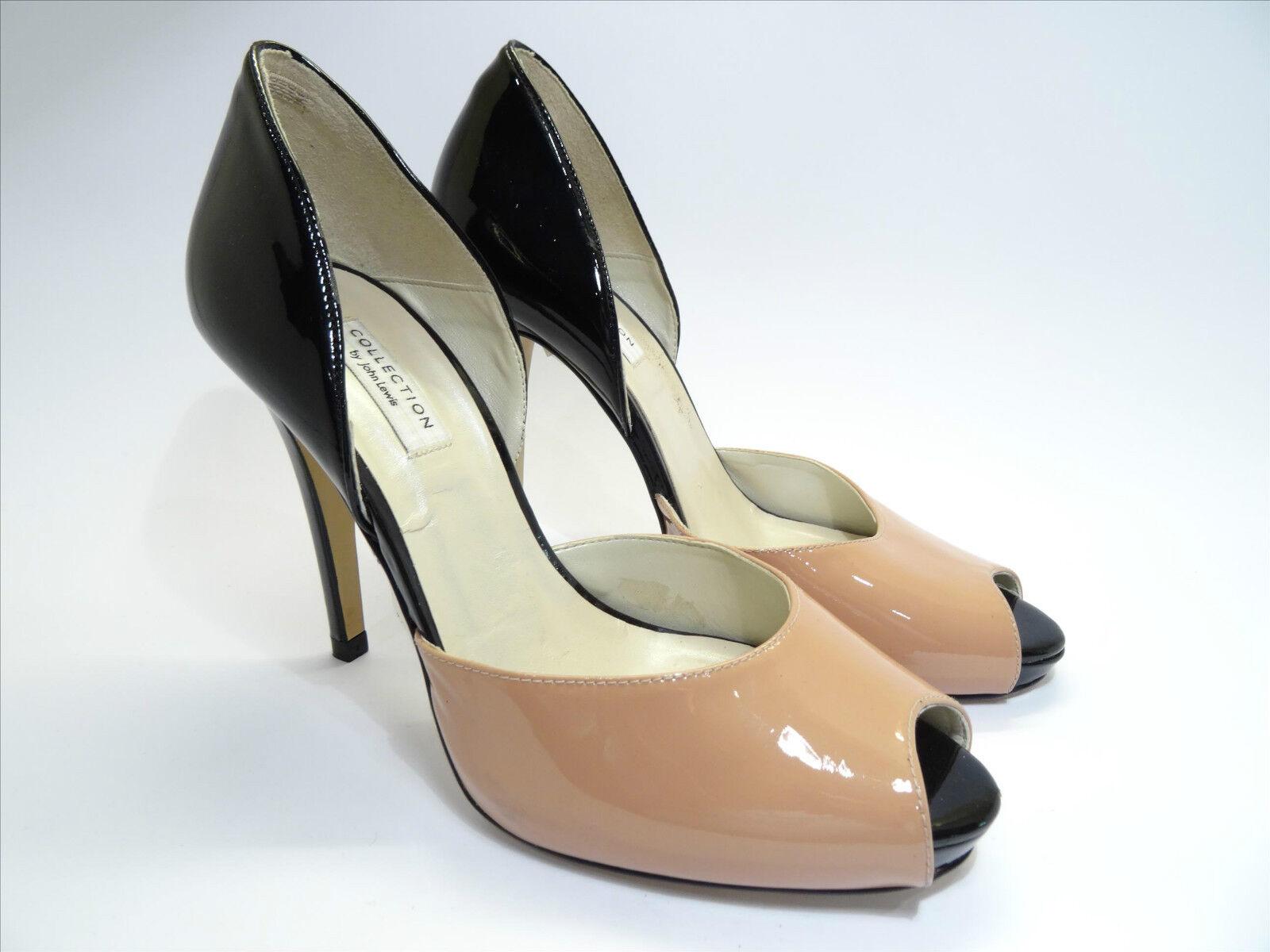 John Lewis-Eliza Nero & Corallo Profondo-tacchi taglia da donna-scegli la tua taglia Profondo-tacchi 8aed43