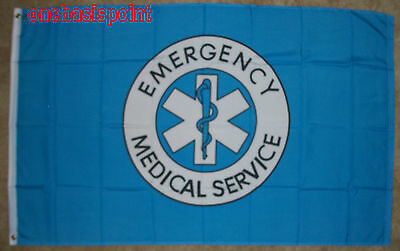 3'x5' EMS Flag Emergency Medical Service Outdoor Banner Humanitarian Rescue 3x5