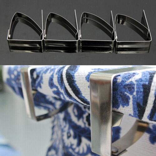 4x en acier inoxydable nappe de table de couverture clips suppor ÁÍ