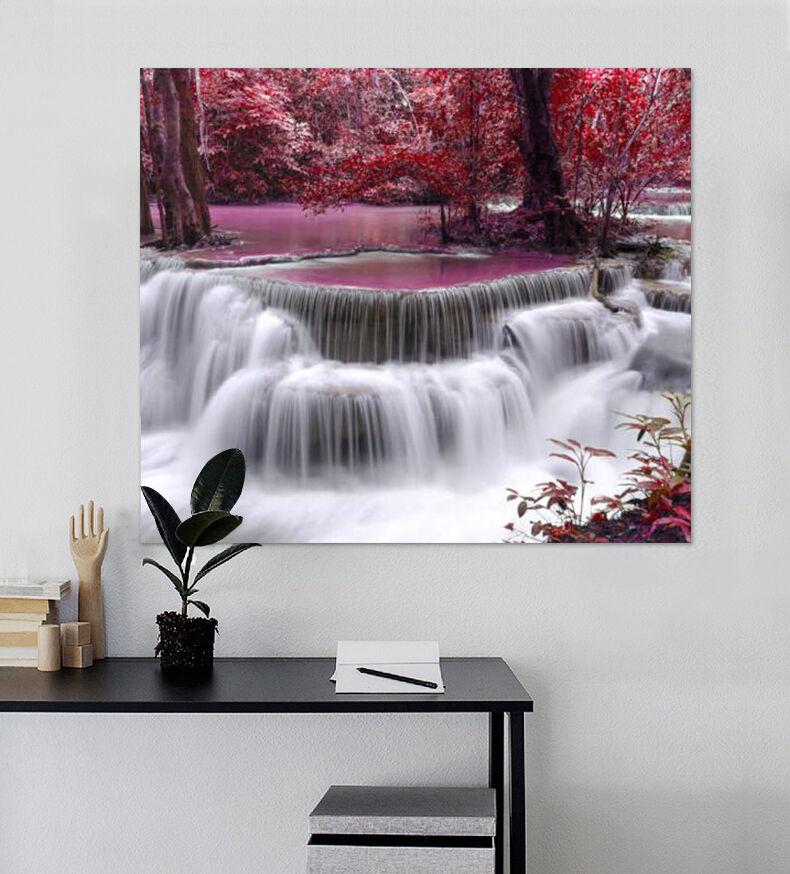 3D Rot-Ahorn Wasserfall Fluss 8 Fototapeten Wandbild BildTapete AJSTORE DE Lemon