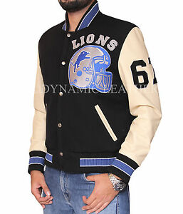 Kleidung & Accessoires Beverly Hills Cop Axel Foley Detroit Lions Vintage Letterman Varsity Jacke Ideales Geschenk FüR Alle Gelegenheiten