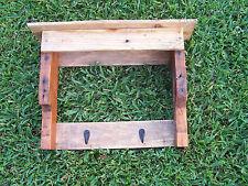 Rustic Primitive Repurposed Wood Pallet Furniture Coat Rack Hat Rack Wall Shelf