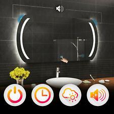 BADSPIEGEL mit LED Beleuchtung WETTERSTATION WIFI · TOUCH · LAUTSPRECHER · L59