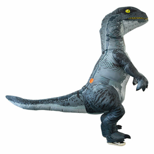 Adult Inflatable Dinosaur Costume Velociraptor Fancy Dress Costume Outfit