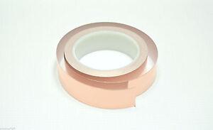 "1"" x 22 yards Copper Foil Tape Conductive EMI Shielding 25mm; US Stock Fast Ship"