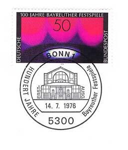 DéLicieux Rfa 1976: Bayreuther Festivals Nº 896! Bonner Ersttags-cachet Spécial! 1 A! 1704-rstempel! 1a! 1704fr-fr Afficher Le Titre D'origine Doux Et LéGer