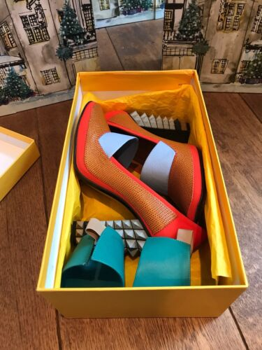 Cult in verde Omg Spike Blue Fendi Armadillo pelle Heel Orange Inserti Grigio Baby TOaw6S