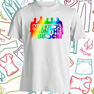 85714eda NKOTB New Kids On The Block Logo Men's White T-Shirt Size S to 3XL ...