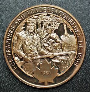 1680 Fur Trappers & Traders: 1971 History of Canada Proof Bronze Medal