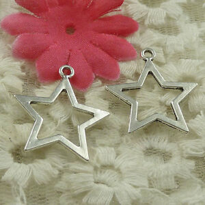 #4607 Free Ship 60 pieces Antique silver star charms 27x24mm