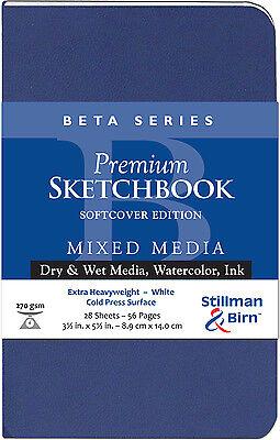 Stillman /& Birn Gamma Softcover Sketchbook 150gsm Med Grain 3.5x5.5i
