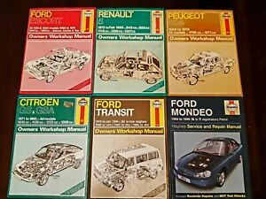 6-haynes-manual-take-your-pick-transit-escort-mondeo-citroen-renault-pegueot