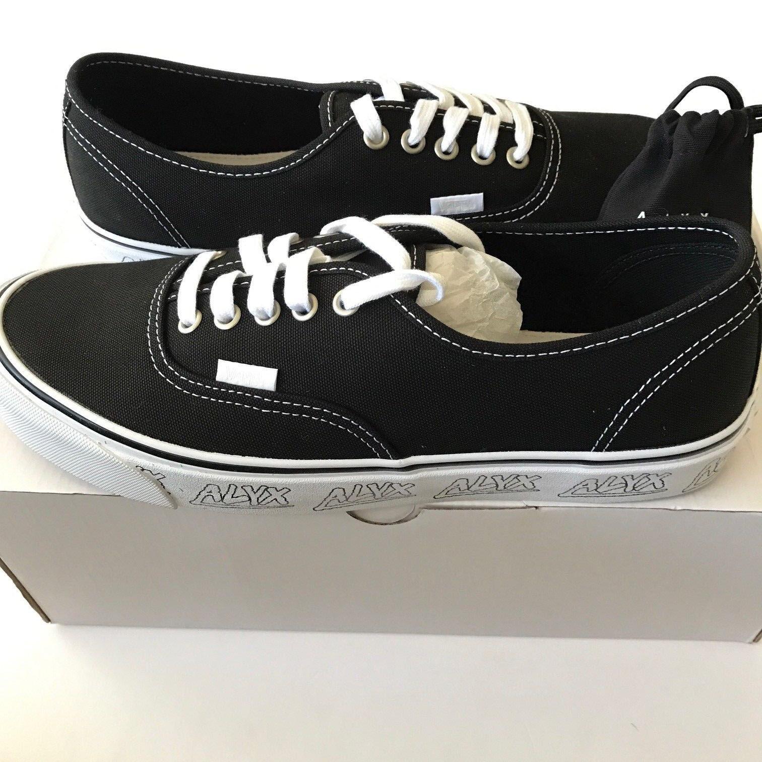 Alyx Vans OG Authentic LX sz.8 Black White Vault FOG