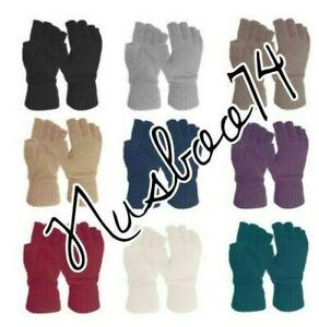 Ladies-Handy-Glove-Thermal-Acrylic-Spandex-Fingerless-Winter-Gloves