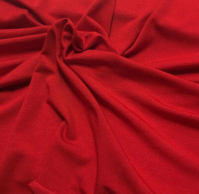 Silky Micro Modal  4 ways Spandex Jersey  Knit Fabric Eco-Friendly  RED 10 oz