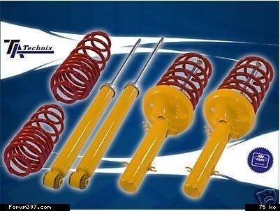 Ressorts Sports Courts Vw Transporter T4-50mm Kit Amortisseurs