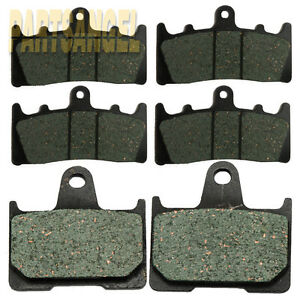 Front + Rear Brake Pads For Suzuki GSXR1000 GSXR 1000 GSX-R1000 2001 2002