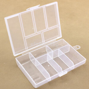 Large Clear Plastic Home Earring Jewelry Storage Box Case Bead