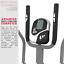 miniatura 10 - Deluxe 2-in - 1 Cross Trainer & Cyclette Allenamento di cardio fitness con sedile