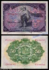 Billet-50-Pesetas-1906-MBC-ESPAGNE-Serie-58-a-F