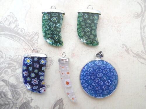 Lampworkperlen Anhänger Glasanhänger Blume Fiorini Glas beads Lampworkbeads