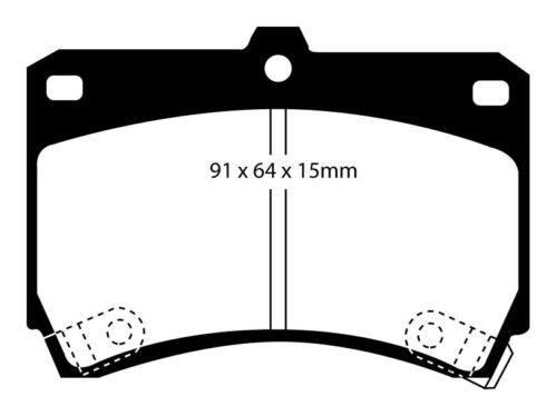 EBC Greenstuff Sportbremsbeläge Vorderachse DP2884 für Mazda 323 S 4