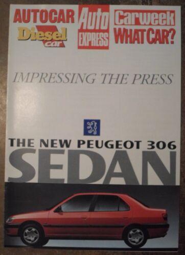 PEUGEOT 306 SEDAN orig 1995 UK Mkt Press Impressions Publicity Sales Brochure