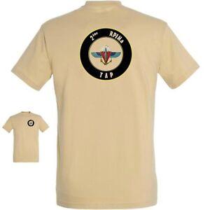 """T Shirt Tan """" 2ème Rpima """" Parachutiste Infanterie De Marine Cos Tshirt Sang Nourrissant Et Esprit RéGulateur"""