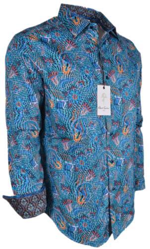 NEW Robert Graham $198 BEARDSLEY Floral Paisley Cotton Classic Fit Sports Shirt