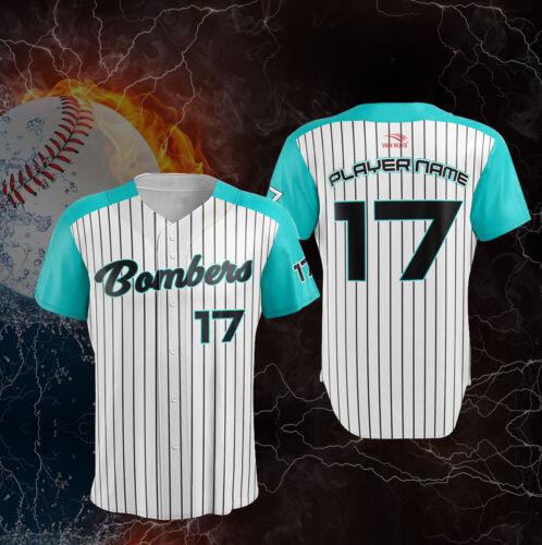 12 Custom Baseball JERSEYS-entièrement sublimé-inclut les noms numéros logos