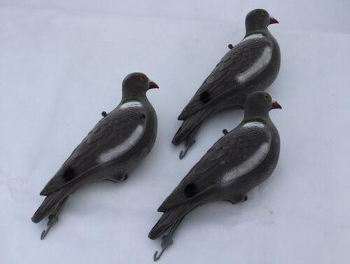 chevilles 3 x Flocked Pigeon leurres-corps plein de tir-matériel de Chasse Decoy
