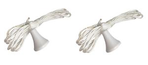 Nuevo Interruptor De Luz de reemplazo de 2 X Cable de tracción cadena baños sanitarios blanco limpio