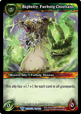 furbolg CHIEFTAN X 4 WoW Warcraft TCG trahison de The Guardian bigbelly