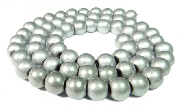 silver coloured 10 x magnetic /'hematite/' tube beads approx 3mm x 9mm