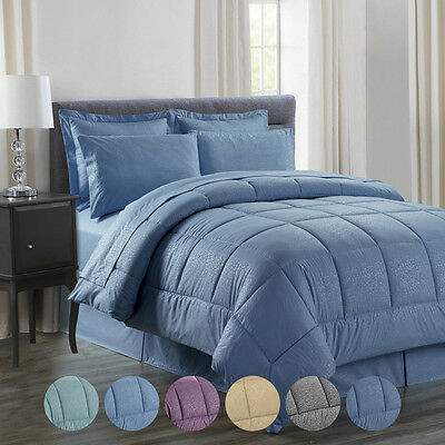 8 Piece: Vine Ultra-Soft Bed In A Bag Comforter Set - In King & Queen