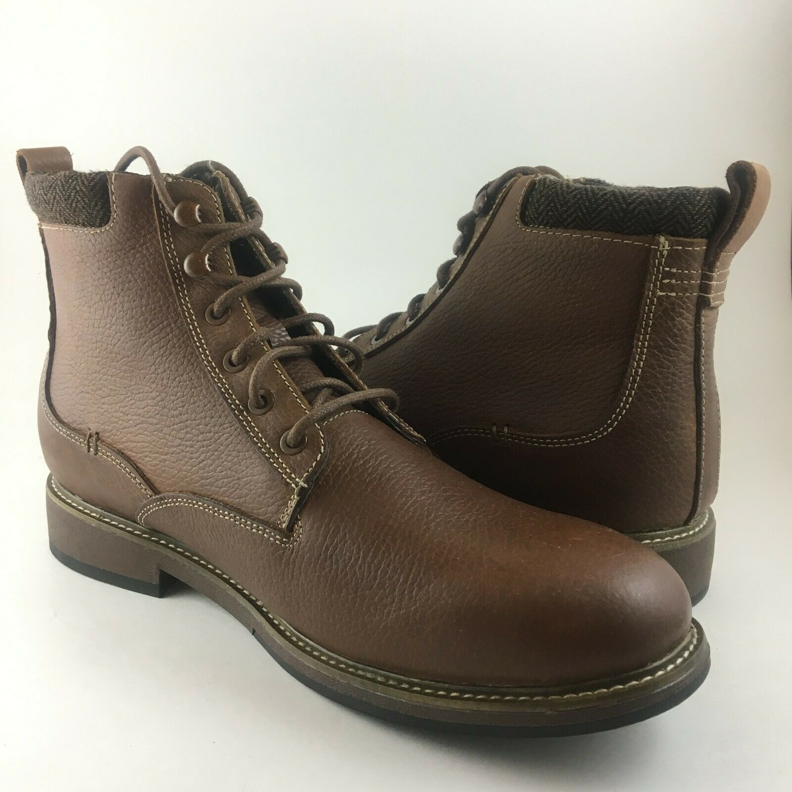 Dr. Scholl's Chief Leather Boot MENS SIZE 12 M BROWN NEW MSRP