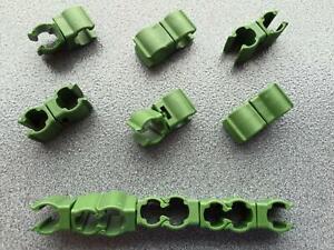 10x Clips für Pflanzstab Rankhilfe Stabverbinder Pflanzenclips Pflanzenbinder
