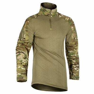 BRITISH ARMY STYLE UBACS SHIRT MTP MULTICAM REINFORCED ELBOWS PCS TACTICAL FLEEC