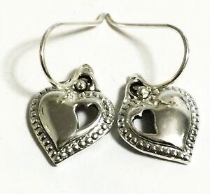 f88570fce6a45 Details about Scott Kay Silver Heart Cutout-Heart Hook Earrings Women Lady  Valentine Gift NWT