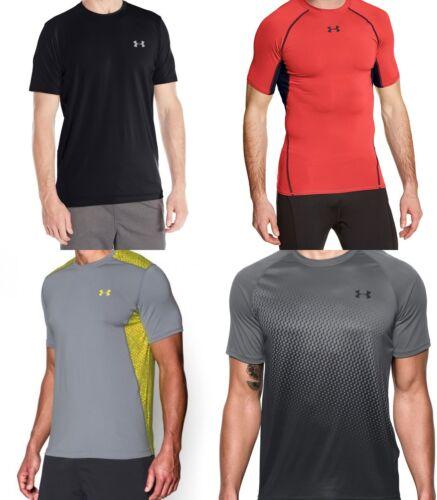 New Under Armour Men/'s HeatGear Armour Short Sleeve Shirt