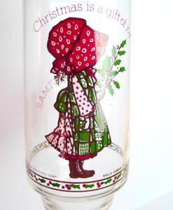 Christmas-Holly-Hobbie-Enjoy-Coke-Glass-Tumbler-1981-vintage