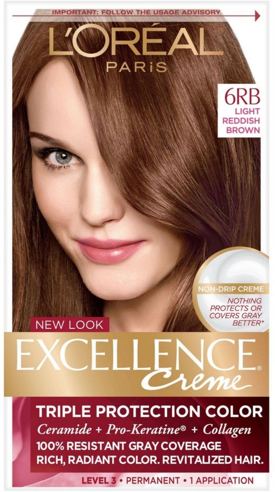 Loreal Excellence Triple Protection Hair Color Creme 6rb Light