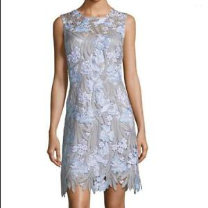 6cfce5b9d8a50 Image is loading 548-NWT-Elie-Tahari-Tallulah-Floral-applique-Sleeveless-