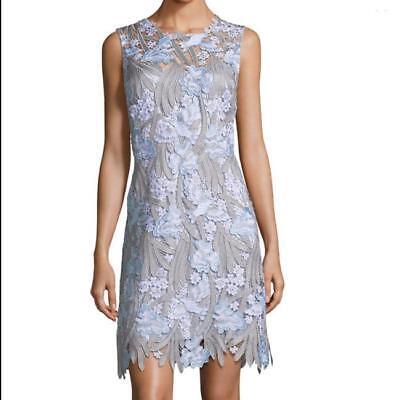 548 Nwt Elie Tahari Tallulah Floral Applique Sleeveless Lace Dress 10 Ebay