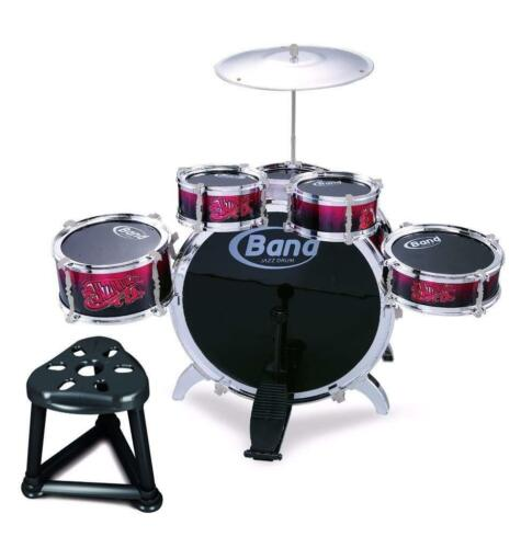 Childs Kids Kit de batterie jazz band sound tambours Lot Jeu Musical Jouet Avec Tabouret