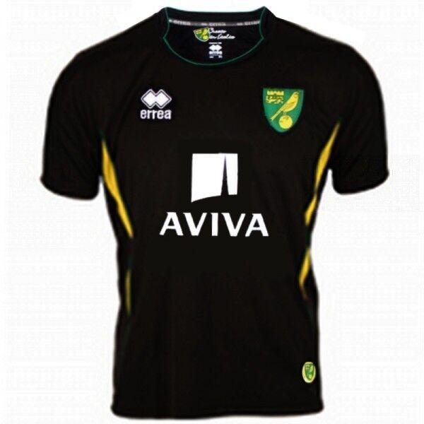 Norwich City 2012 13 lejos (XL) Negro S S Errea Fútbol Fútbol Camiseta Jersey BNWT